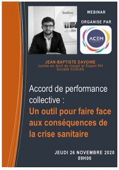 les rencontres experts accord de performance collective